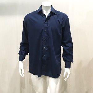 Eton Men's Blue Plaid Check Dress Shirt